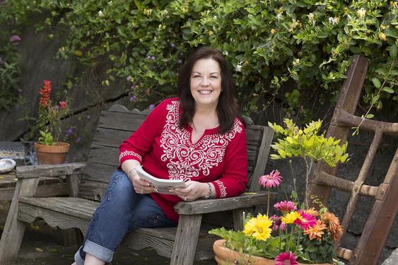 Patty bennett may 2017 garden portrait bench