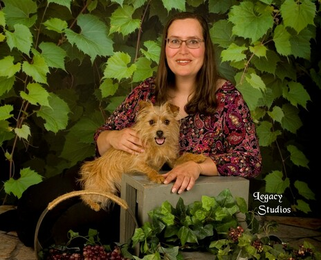 Me and roxy in grape vines %282%29